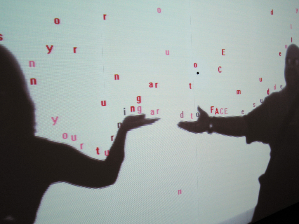 Image of Text Rain art installation